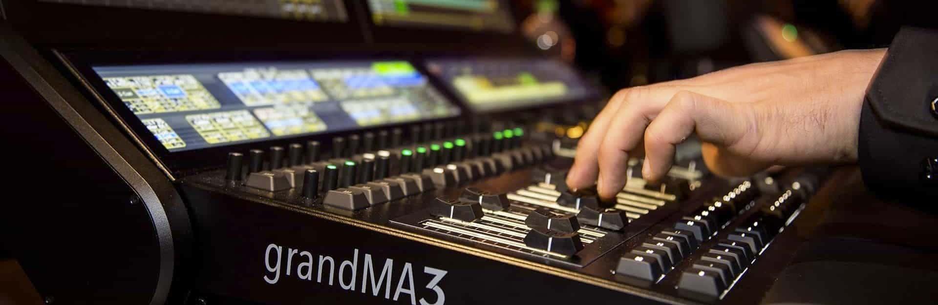 GrandMA3 Lighting console rental Spain
